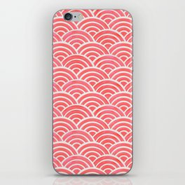 Japanese Seigaiha Wave Pattern – Coral iPhone Skin