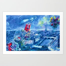 View of Paris by Marc Chagall Art Print