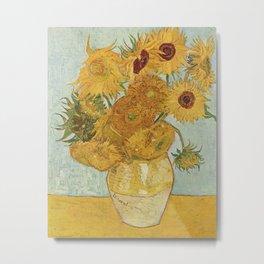 Van Gogh Sunflowers Metal Print