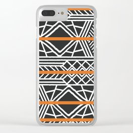 Tribal ethnic geometric pattern 022 Clear iPhone Case