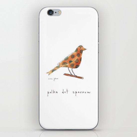 polka dot sparrow iPhone & iPod Skin
