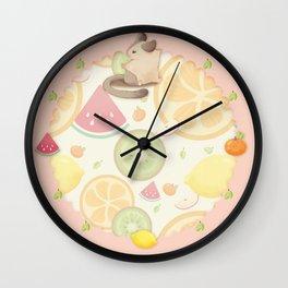 summer fresh fruit Wall Clock