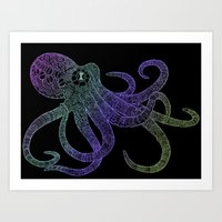 Mechanical Octopus (color version) Art Print