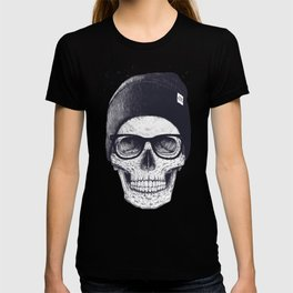 Grey Skull in a hat T-shirt