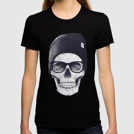 Grey Skull in a hat T-shirt