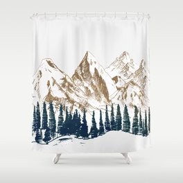 mountains 9 Shower Curtain