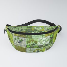 Patchwork in green Fanny Pack