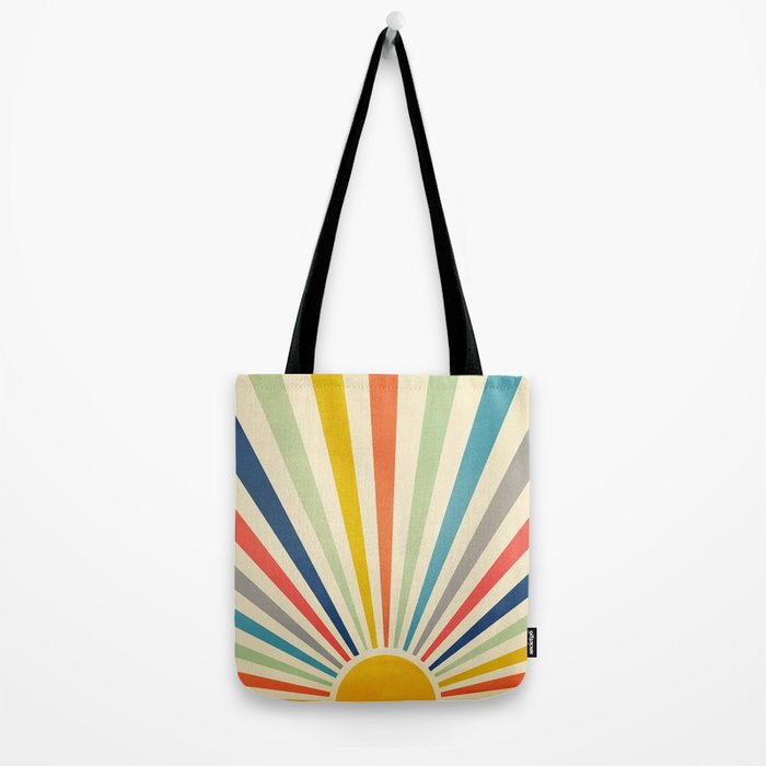 Sun Retro Art III Tote Bag