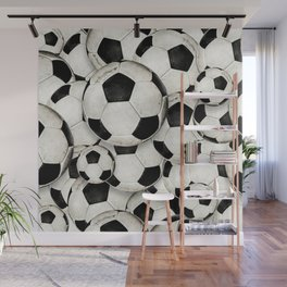 Dirty Balls - footballs Wall Mural