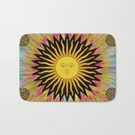 Psychedelic Sun Star Bath Mat