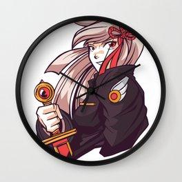 Woman girl with sword Anime Wall Clock