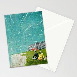 Meteor Shower Digital Collage Stationery Cards