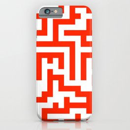 White and Scarlet Red Labyrinth iPhone Case
