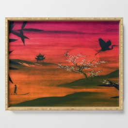 Oriental Sunset Serving Tray
