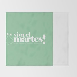 Viva el martes! Throw Blanket