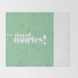 Viva el martes! Throw Blanket
