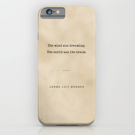 Jorge Luis Borges Quote 02 - Typewriter Quote on Old Paper - Minimalist Literary Print iPhone Case