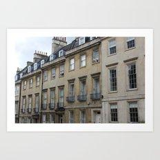 Row of Houses in Bath Art Print