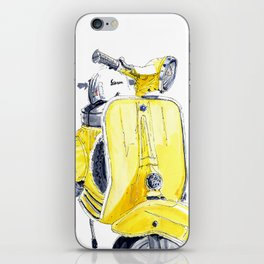 Yellow Vespa 50s iPhone Skin