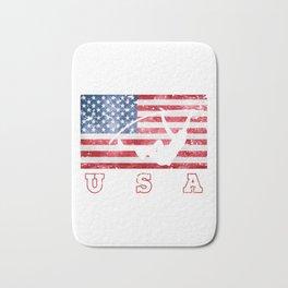 USA Pole Vault - Flag of America Bath Mat