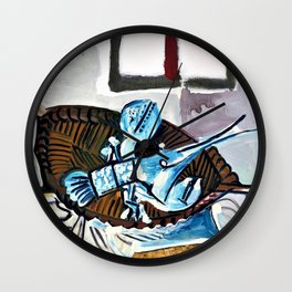 12,000pixel-500dpi - Pablo Picasso - The lobster in a basket - Digital Remastered Edition Wall Clock