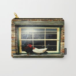 Rooster & Hen on a window Ledge Carry-All Pouch