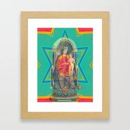Iconography Madonna and Child Pop Renaissance Framed Art Print