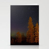 northern lights Stationery Cards featuring Northern lights by Arina Borevich