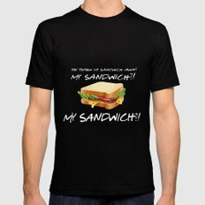 My Sandwich?! - Friends TV Show Black Mens Fitted Tee MEDIUM