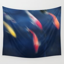Koi fish in a pond Wall Tapestry