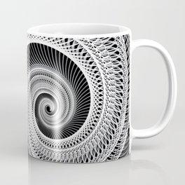 Black And White Skeletal Shell  Coffee Mug