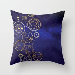 Gallifrey Gold Space Geometry Throw Pillow