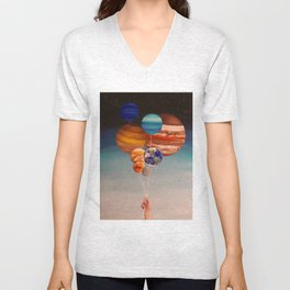 Inflated Planets Unisex V-Neck