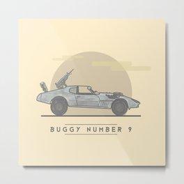 mad Max: Fury Road - Buggy Number 9  Metal Print