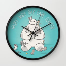 Hairy Baby Day Care Center Wall Clock