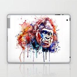 Gorilla Watercolor portrait Laptop & iPad Skin