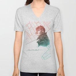 Amelia Earhart Courageous Adventurer Unisex V-Neck