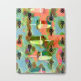 Pine Cones and Ice Pops. Metal Print