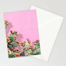 Prickly Pear plants on Pink Stationery Cards