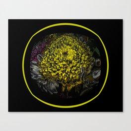 Black Yellow Pink Design Canvas Print