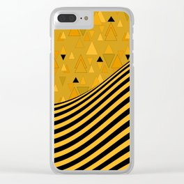 Yellow , black , striped Clear iPhone Case