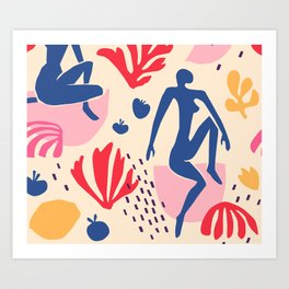 red blue yellow Art Print
