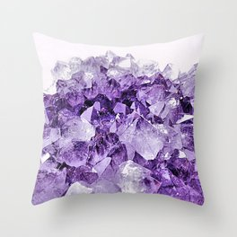 Amethyst Cluster Throw Pillow