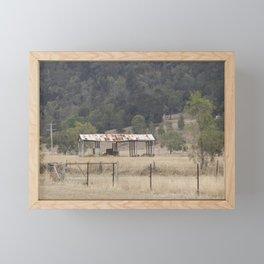 Hay Shed Framed Mini Art Print
