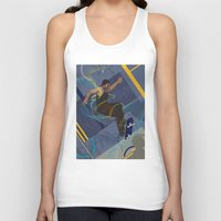 skateboard Tank Tops featuring Project Skateboard by Martin Orme