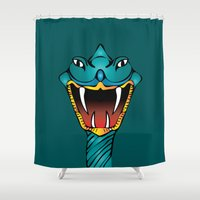 snake Shower Curtains featuring Snake by ale_z