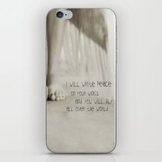 peace on your wings iPhone & iPod Skin