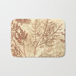Warm Seaweed Pattern Bath Mat