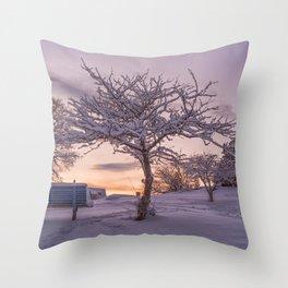 Winter Sunset #2 Throw Pillow