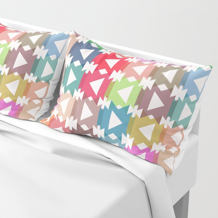 Pastel geometry Pillow Sham